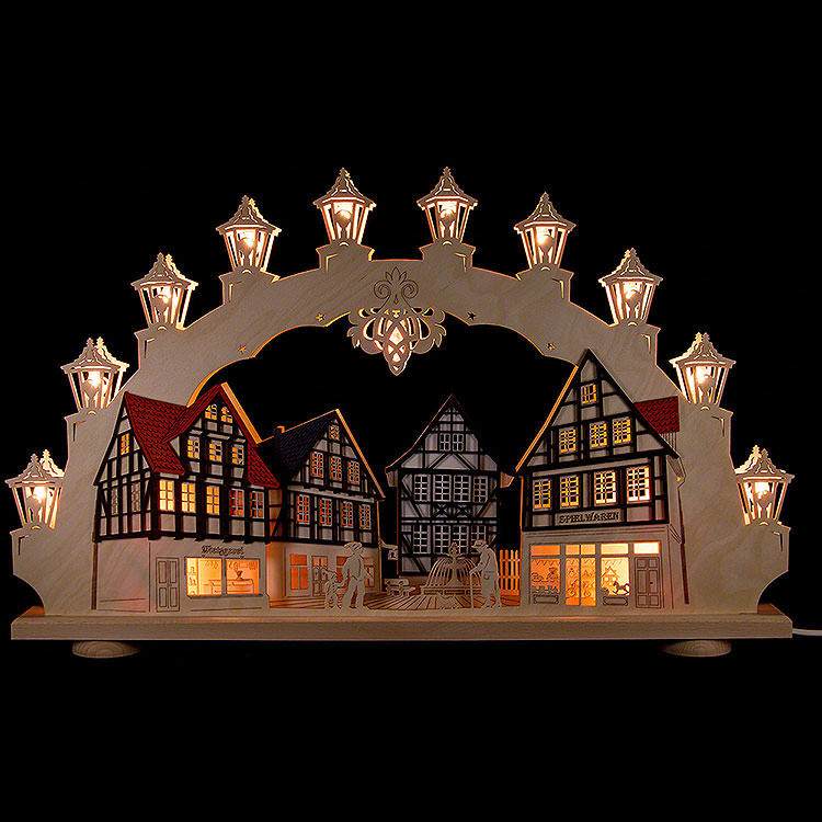 3D Candle Arch  -  Old Town  -  LED  -  66x41x6cm / 26x16x2 inch