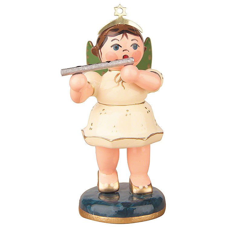 Angel with Transverse Flute  -  6,5cm / 2,5 inch