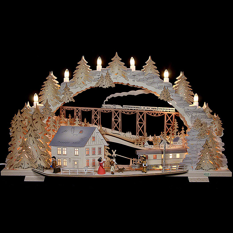 Candle Arch  -  Train Ride in the Ore Mountains  -  72x43x13cm / 28x16x5 inch