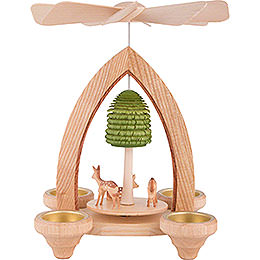 1 - Tier Pyramid  -  Fawns  -  Natural  -  26cm / 10.2 inch