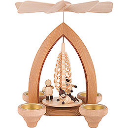 1 - Tier Pyramid  -  Ice Skater  -  Natural  -  26cm / 10.2 inch