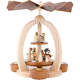 2 - Tier Pyramid  -  Winter Children  -  28cm / 11 inch