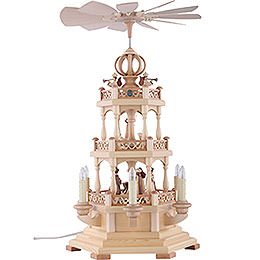 3 - Tier Pyramid  -  The Christmas Story  -  50cm / 20 inch  -  120 V Electr. Motor (US - Standard)