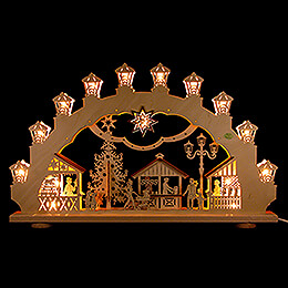 3D Candle Arch  -  Christmas Market  -  66x40cm / 26x15.7 inch