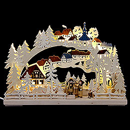 3D Candle Arch  -  Winter Hike  -  43x30cm / 17x12 inch