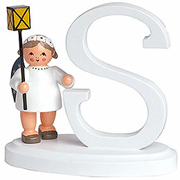"Angel Letter ""S""  -  7cm / 2.8 inch"