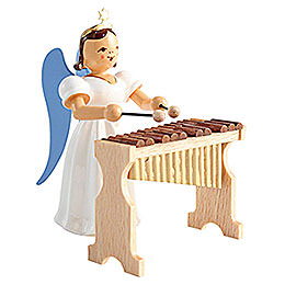 Angel Long Pleated Skirt with Xylophone, Colored  -  6,6cm / 2.6 inch