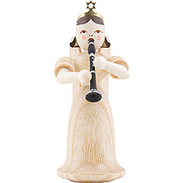 Angel Long Skirt with Clarinet, Natural  -  6,6cm / 2.6 inch
