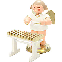 Angel White/Gold Xylophone  -  6,0cm / 2 inch