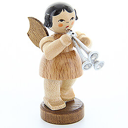 Angel with Shawm  -  Natural Colors  -  Standing  -  6cm / 2.4 inch