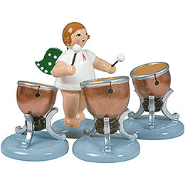 Angel with Three Timbals  -  6,5cm / 2.5 inch