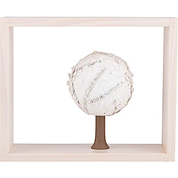 Apple Tree in Frame  -  without  Figurines  -  Winter  -  13,5cm / 5.3 inch