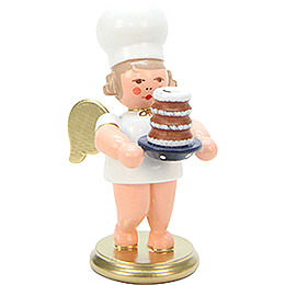 Baker Angel with Cake  -  7,5cm / 3 inch