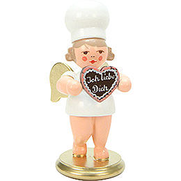 Baker Angel with Heart  -  7,5cm / 3 inch