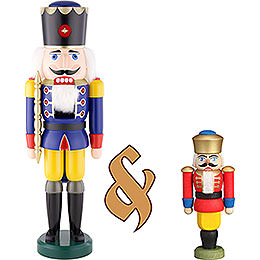Bundle  -  Nutcracker King Blue Large and Nutcracker King Red Small