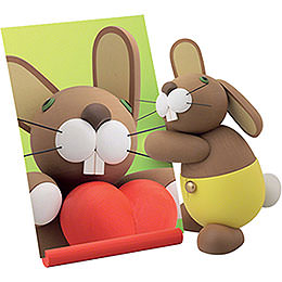 """Bunny """"Helmut"""" with Map  -  16cm / 6.3 inch"""