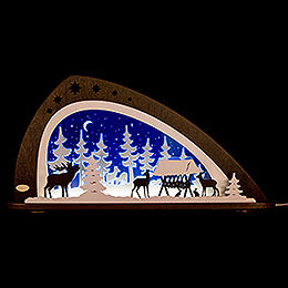 """Candle Arch  -  """"Animals of the Forest""""  -  66x33,8cm / 26x13.3 inch"""