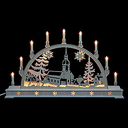 Candle Arch  -  Erzgebirge Landscape with Base  -  78x45cm / 31x18 inch