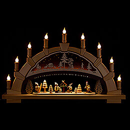 Candle Arch  -  Forest with Winter Children  -  66x40cm / 26x15.7 inch