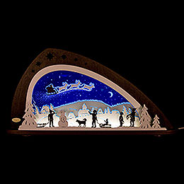 "Candle Arch  -  LED ""Santa Claus""  -  66x33,8cm / 26x13.3 inch"