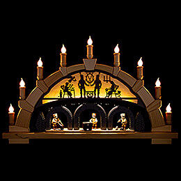 Candle Arch  -  Ore Mountains with Miners  -  66x40cm / 26x15.7 inch
