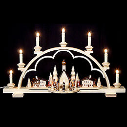Candle Arch  -  Village in the Alps  -  64cm / 25 inch