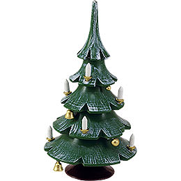 Christmas Tree with Bells, Colored  -  12cm / 4.7 inch