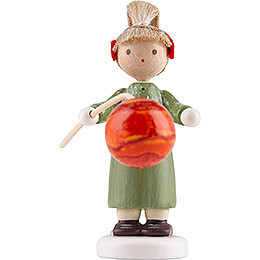 Flax Haired Children Girl with Lampion  -  Edition Flade & Friends  -  4,5cm / 1.8 inch
