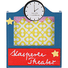 Flax Haired Children Puppet Theater  -  5cm / 2 inch