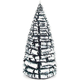 Frosted Tree  -  Green - White  -  14cm / 5.5 inch