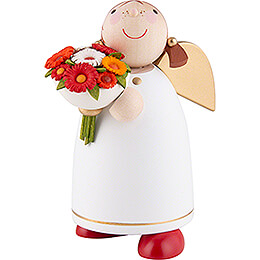 Guardian Angel with Flower Bouquet  -  8cm / 3.1 inch