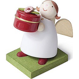 Guardian Angel with Gift Box  -  3,5cm / 1.4 inch