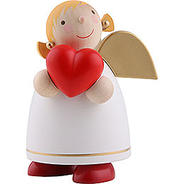 Guardian Angel with Heart, White  -  8cm / 3.1 inch