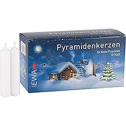 High Quality Pyramid - Candles White  -  D=1.4cm (0.55 Inch)