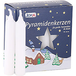 High Quality Pyramid - Candles White  -  D=1.7cm (0.66 Inch)