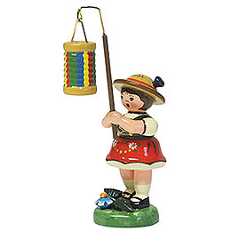 Lampion Girl with Strips Lantern  -  8cm / 3 inch