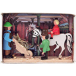 Matchbox  -  Horse Stable  -  4cm / 1.6 inch