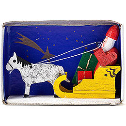 Matchbox  -  Santa Claus with Sled  -  4cm / 1.6 inch