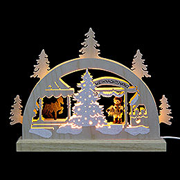 Mini LED Lightarch  -  Christmas Fair  -  23x15x4,5cm / 9x6x2 inch