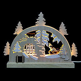 Mini LED Lightarch  -  Winter Countryside  -  23x15x4,5cm / 9x6x2 inch