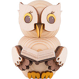 Mini Owl with Book  -  7cm / 2.8 inch