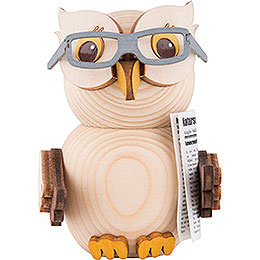 Mini Owl with Glasses  -  7cm / 2.8 inch