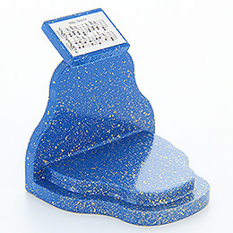 "Music Desk ""Stille Nacht"" (Silent Night)  -  Blue/Gold  -  5cm / 2 inch"