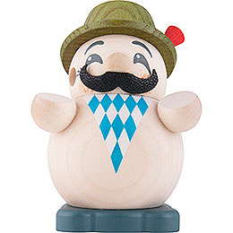Smoker  -  Bavarian  -  Ball Figure  -  9cm / 3.5 inch