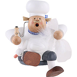 Smoker  -  Cook/Chef with Goose  -  Shelf Sitter  -  17cm / 7 inch