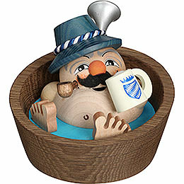 Smoker  -  Franzl in the Pool  -  Ball Figure  -  10cm / 3.9 inch