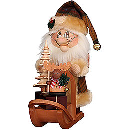 Smoker  -  Gnome Santa with Sledge  -  28cm / 11 inch