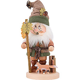 Smoker  -  Gnome with Fox  -  34cm / 13.4 inch