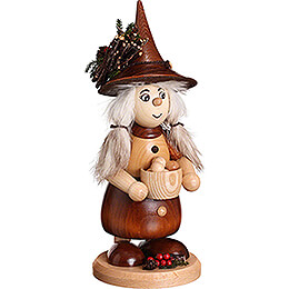 Smoker  -  Lady Gnome with Dumplings  -  25cm / 9.8 inch