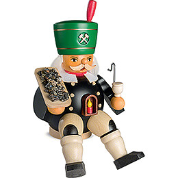 Smoker  -  Miner with Ore, sitting  -  20cm / 7.9 inch